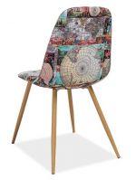 Jídelní čalouněná židle CITI mapa