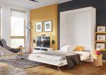 Výklopná postel 120 CONCEPT PRO CP-02P bílá lesk/bílá mat