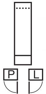 Skříňka pravá INDIANAPOLIS I-2 jasan bílý