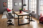 Křeslo-židle čalouněná KUBO šedá