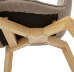 židle ABBRE BROWN