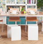 univerzální stolička WAVE WHITE