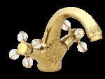 luxusní umyvadlová baterie BEBEK GOLD s potahem 24 kt zlata