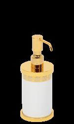 luxusní miska na mýdlo PORCELAINE GOLD s potahem 24 kt zlata