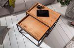 2SET odkládací-konferenční stolek ELEMENTS 60 CM dubová dýha