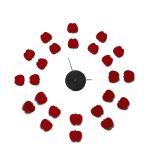 Nalepovací nástěnné hodiny APPLES 75 CM
