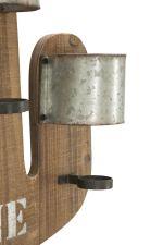 Nástěnný držák na láhve KAKTUS II 58 CM