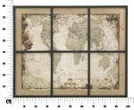 Nástěnná dekorace WINDOWS MAP 80 CM