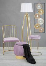 2SET židle BARS růžová samet