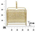 Stojan na noviny LUXY 37 CM zlatý
