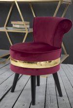MINI židle/stolička PARIS II vínová