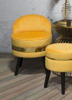 MINI židle/stolička PARIS oranžová