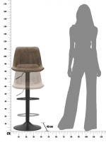 Barová židle BARLO 90-112 CM
