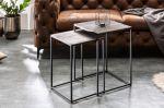 2SET konferenční stolek ELEMENTS stříbrno-černý