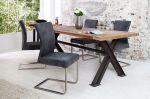 Židle SAMSON S RUKOJETÍ vintage šedá