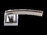 luxusní rozetová klika MIMOZA SILVER čiré krystaly