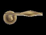 luxusní rozetová klika CURL GOLD s potahem 24 kt zlata