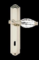 luxusní rozetová klika BEBEK SILVER, bílý krystal