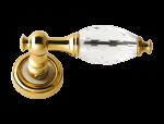luxusní štítková klika BEBEK SATEN, čirý krystal