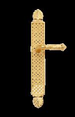 luxusní štítková klika PALACE GOLD RUSTIK