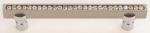 luxusní úchytka 128mm MIMOZA SILVER MAT, krystaly