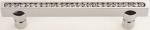 luxusní úchytka 128mm MIMOZA SILVER LESK, krystaly