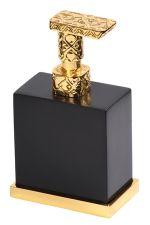 luxusní kartáč na toaletu FRAME GOLD s potahem 24 kt zlata