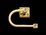 luxusní držák na ručník tyč TRIA GOLD s potahem 24 kt zlata, krystaly