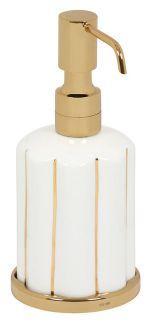 luxusní držák na ručník tyč NISA GOLD s potahem 24 kt zlata