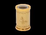 luxusní kartáč na toaletu PAPILLON GOLD s potahem 24 kt zlata