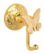 luxusní držák na ručník tyč PAPILLON GOLD s potahem 24 kt zlata