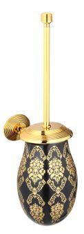 luxusní držák na kartáčky BUBBLE GOLD WHITE s potahem 24 kt zlata