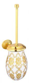 luxusní kartáč na toaletu BUBBLE GOLD GLASS s potahem 24 kt zlata