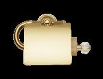 luxusní držák na ručník kruh ALMARA GOLD s potahem 24 kt zlata, krystaly