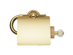 luxusní držák oblý ALMARA GOLD s potahem 24 kt zlata, krystaly