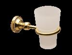 luxusní kartáč na toaletu ALMARA GOLD I s potahem 24 kt zlata, krystal