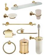 luxusní dávkovač mýdla ALMARA GOLD s potahem 24 kt zlata, krystaly