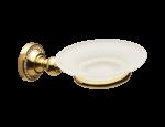 luxusní kartáč na toaletu ALMARA GOLD II s potahem 24 kt zlata, krystal