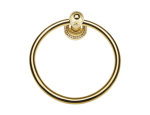 luxusní polička ALMARA GOLD II s potahem 24 kt zlata, krystaly