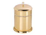 luxusní zrcalo ALMARA GOLD s potahem 24 kt zlata, krystaly