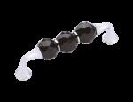 luxusní úchytka 64mm BEBEK SILVER, černý krystal