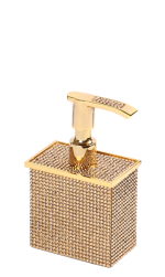 luxusní kelímek na kartáčky ROSA SWAROVSKI GOLD s potahem 24 kt zlata, krystaly