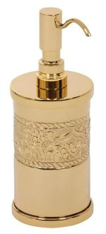 luxusní kelímek na kartáčky ROSE GOLD s potahem 24 kt zlata