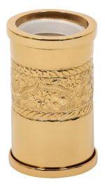 luxusní kartáč na toaletu ROSE GOLD s potahem 24 kt zlata