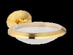 luxusní kelímek na kartáčky volný BUBBLE GOLD GLASS s potahem 24 kt zlata