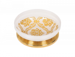 luxusní miska na mýdlo volná BUBBLE BLACK patinovaná mosaz