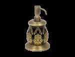 luxusní kelímek na kartáčky volný BUBBLE GOLD WHITE s potahem 24 kt zlata