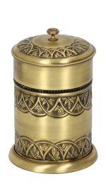 luxusní kartáč na toaletu BLOSSOM GOLD s potahem 24 kt zlata
