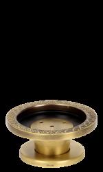 luxusní držák na ručník kruh  BLOSSOM patinovaná mosaz
