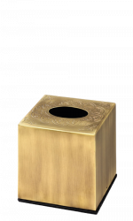 luxusní kartáč na toaletu BLOSSOM patinovaná mosaz